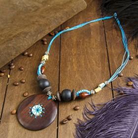 """Necklace """"eolis"""" blue 34х7х2,5 cm"""