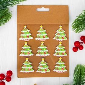 "Christmas decor-stickers ""Winter tree"", set of 9 PCs"