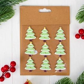 "Christmas decor-stickers ""Holiday tree"", set of 9 PCs"