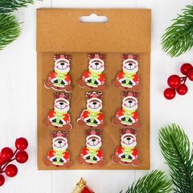 "Christmas decor-stickers ""Deer"", set of 9 PCs"