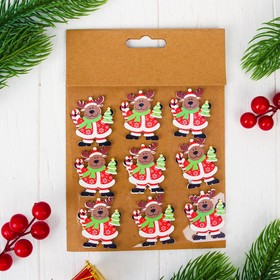 "Christmas decor-stickers ""Christmas deer"", set of 9 PCs"