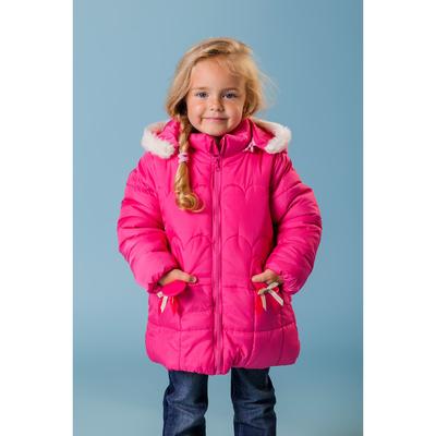 """Куртка для девочки """"Карманы-мышки"""", рост 98-104 см, цвет фуксия"""
