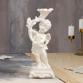 """Статуэтка """"Ангел с подсвечником"""", белый цвет, 32 см"""