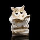 """Копилка """"Сова мудрости"""", лак, бело-золотистый цвет, 26 см"""