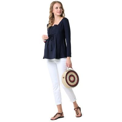 Блузка для беременных цвет синий, р-р 44