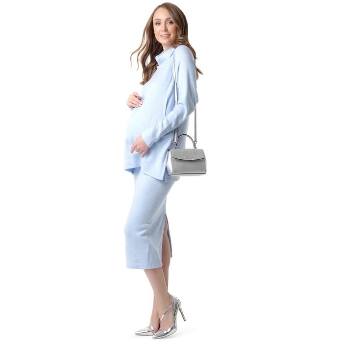 Комплект для беременных и кормящих (джемпер, юбка), цвет голубой, размер 46