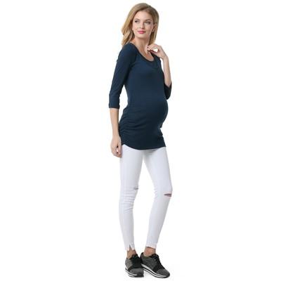Лонгслив для беременных и кормящих 100771 цвет синий, р-р 52