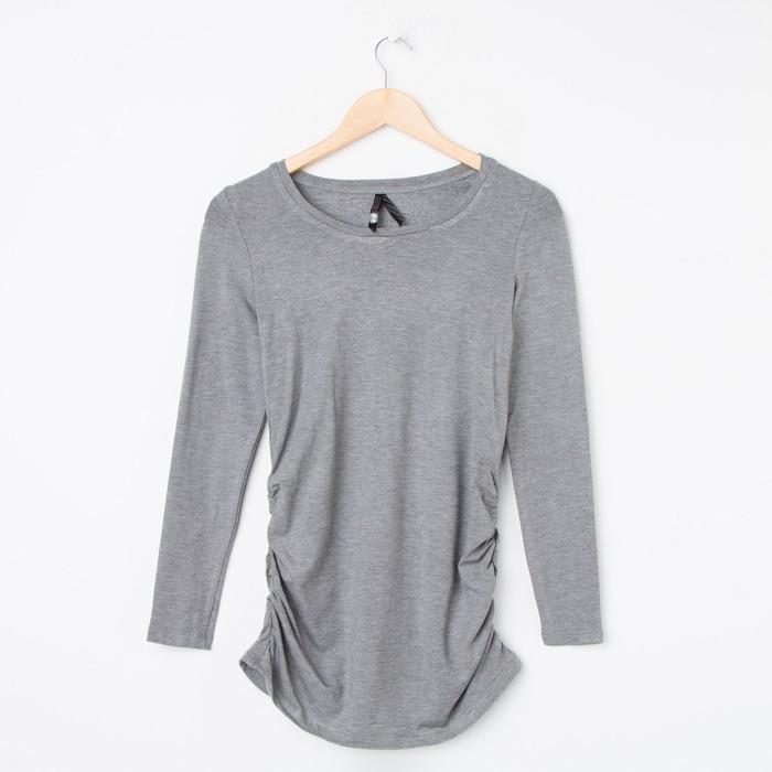 Лонгслив для беременных, цвет серый меланж, размер 42