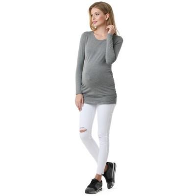 Лонгслив для беременных цвет серый меланж, р-р 44