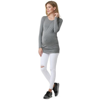 Лонгслив для беременных 100224 цвет серый меланж, р-р 52