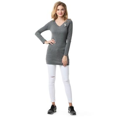 Лонгслив для беременных 100760 цвет серый меланж, р-р 52