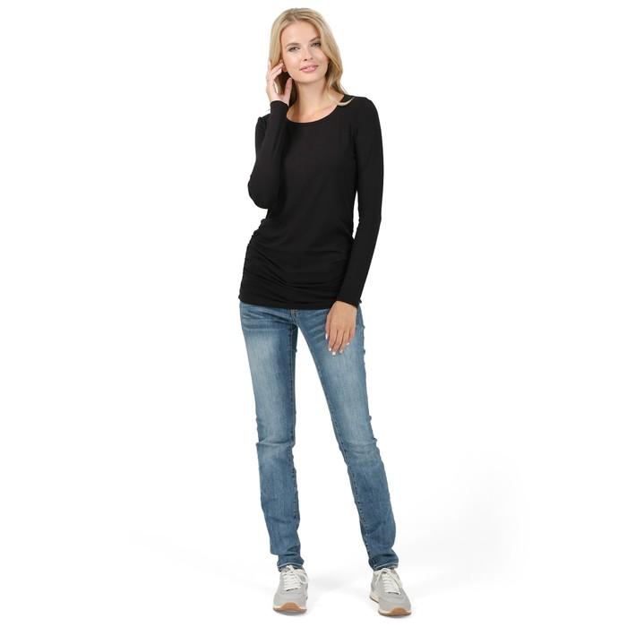 Лонгслив для беременных, цвет чёрный, размер 44