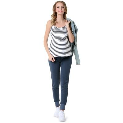 Майка для беременных цвет белый синий, р-р 46