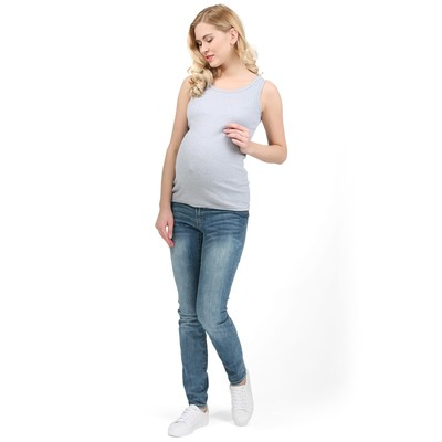 Майка для беременных цвет серый меланж, р-р 46