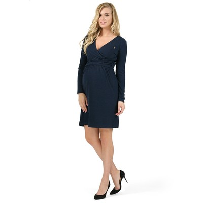 Платье для беременных и кормящих цвет синий, р-р 44