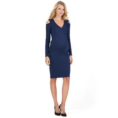 Платье для беременных и кормящих 45455 цвет синий, р-р 50