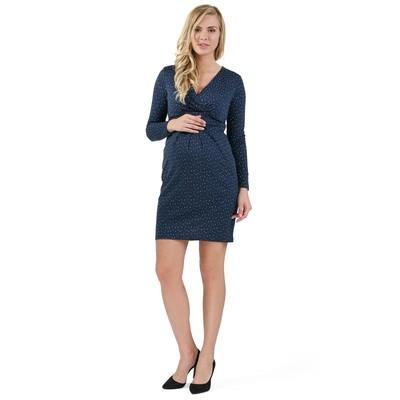 Платье для беременных и кормящих цвет синий, р-р 50