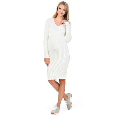 Платье для беременных цвет молочный, р-р 46