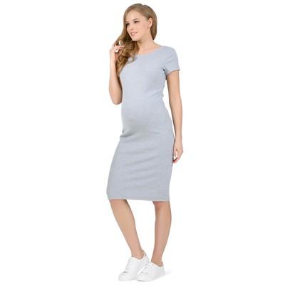 Платье для беременных цвет серый меланж, р-р 48