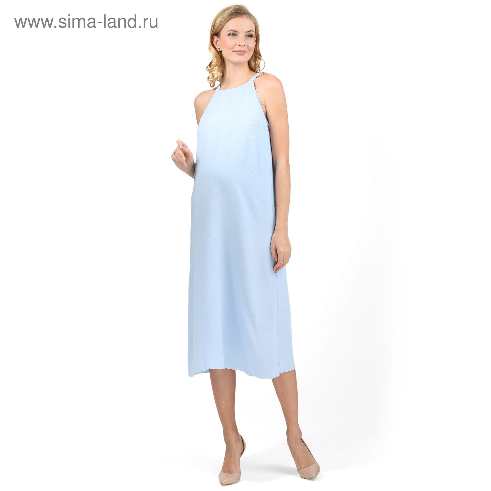Сарафан для беременных цвет голубой aae8188df7f5f