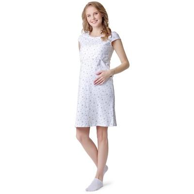 Сорочка для беременных и кормящих цвет белый, р-р 42