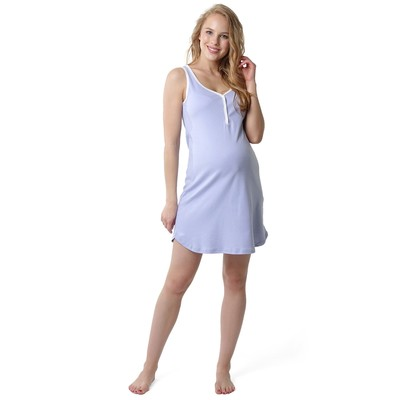 Сорочка для беременных и кормящих цвет лавандовый, р-р 52