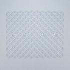 Коврик для раковины  «Кружки» 25х31 см  см , цвет прозрачный