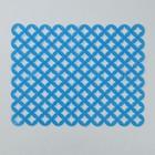 Коврик для раковины  «Кружки» 25х31 см  см , цвет синий