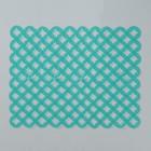 Коврик для раковины  «Кружки» 25х31 см  см , цвет зелёный