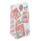 Пакет подарочный без ручек «Вкусняшки», 10 × 19,5 × 7 см
