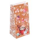 Пакет подарочный без ручек «Радости — сладости», 10 × 19,5 × 7 см
