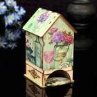 """Чайный домик """"Цветы"""" с УФ-печатью, 8,5х9,5х16см"""