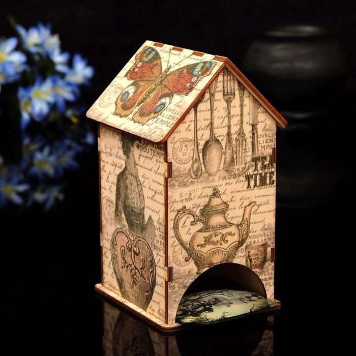 """Чайный домик """"Бабочка"""" с УФ-печатью, 8,5х9,5х16см"""
