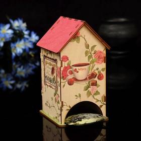 """Чайный домик """"Розы"""" с УФ-печатью, 8,5х9,5х16см"""