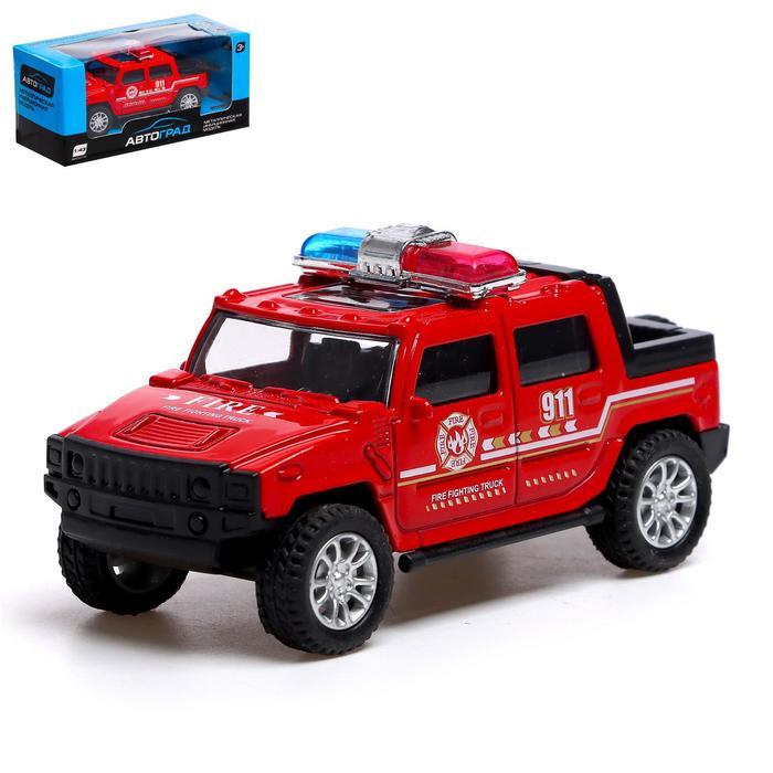 Машина металлическая «Пожарная служба», масштаб 1:43, инерция