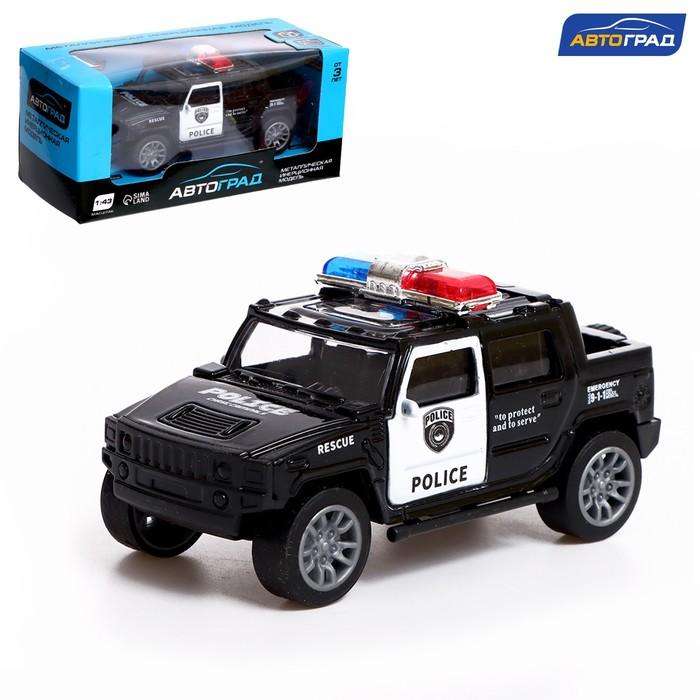 Машина металлическая «Полицейский джип», масштаб 1:43, инерция - фото 105653987