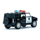 Машина металлическая «Полицейский джип», масштаб 1:43, инерция - фото 105653989