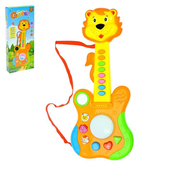 Музыкальная игрушка гитара «Львёнок», световые и звуковые эффекты