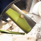 Кошелёк женский, 2 отдела на клапане, цвет зелёный - фото 54763