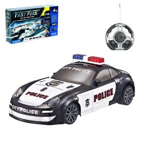 Конструктор радиоуправляемый «Полиция», световые и звуковые эффекты, 24 детали