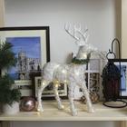 "Фигура световая ""Белый олень"", 34х23х12 см, 23 LED, от батареек (в компл.), Т-БЕЛЫЙ"