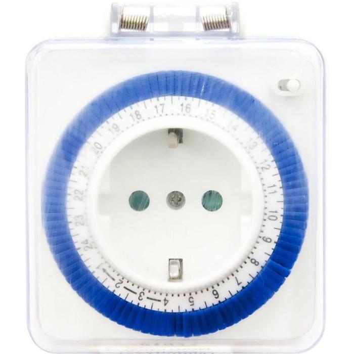 Розетка с таймером суточная 61924/TM31, 3500W, 16A, 230V, IP44, цвет белый