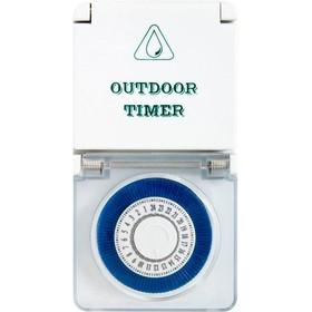Розетка с таймером суточная TM51, 3500W, 16A, 230V, IP44, цвет белый Ош