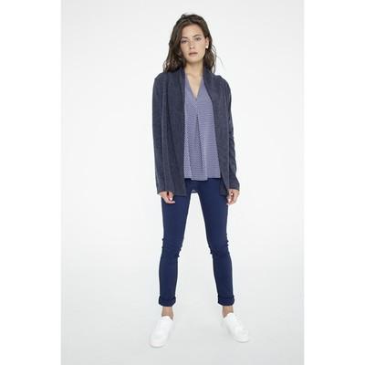 Кардиган женский, размер 48, цвет синий