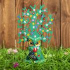 """Сувенир дерево """"Лесная сова"""" зелёный 14х8х18 см"""