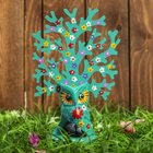 "Сувенир дерево ""Лесная сова"" голубой 14х8х18 см"
