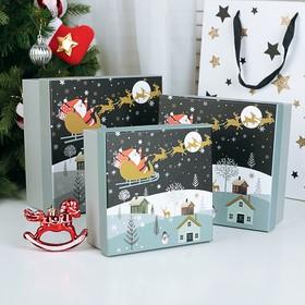 Набор коробок 3 в 1 «Чудесного Нового года!», 20 х 20 х 9,5 - 15,5 х 15,5 х 9,5 см в Донецке