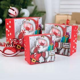 Набор коробок 3 в 1 «Новогоднее настроение», 13 х 13 х 8 - 9 х 9 х 6 см в Донецке