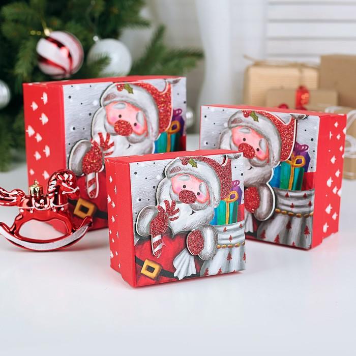 Набор коробок 3 в 1 «Новогоднее настроение», 13 х 13 х 8 - 9 х 9 х 6 см