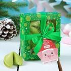 """Цветное печенье с предсказаниями 4 шт. в коробке """"Пусть Новый год принесет счастье"""""""